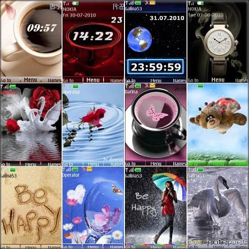 Wonderful theme for Nokia S40 Pack 11