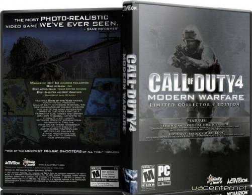 CoD 4:Modern Warfare Limited Collector`s Edition v.1.7.586 + 200 карт (2010/RU) Repack 3xDVD