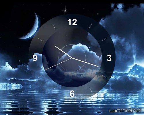 Moon Clockl screensaver