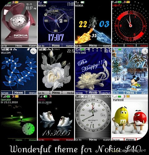 Wonderful theme for Nokia S40 Pack 22