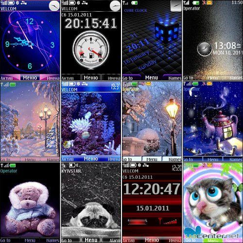Wonderful theme for Nokia S40 Pack 27