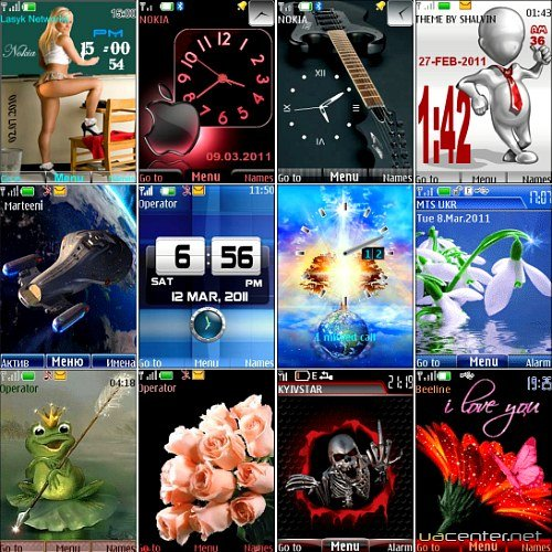 Wonderful theme for Nokia S40 Pack 32