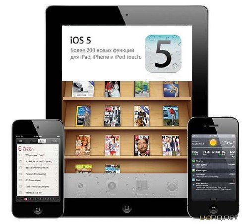iOS 5 Gold Master для iPad 1 / 2; iPhone 3Gs/4/4 Verizon; iPod touch 3g/4g (2011/Beta)