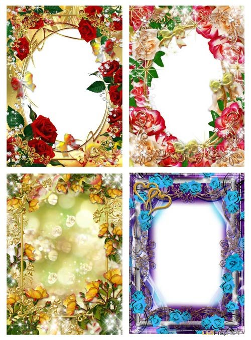 The collection of frames with flowers #1