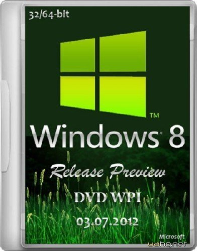 Microsoft Windows 8 Release Preview 32/64-bit DVD WPI 03.07.2012