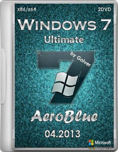 Windows 7 Ultimate AeroBlue by Golver 04.2013 2DVD (x86/x64/RUS)