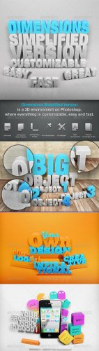 Фошошаблон Dimensions Simplified Version – Mock-up 1 – GraphicRiver
