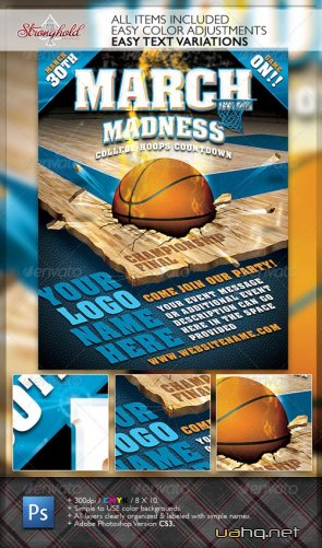 March Madness Championship Flyer - GraphicRiver
