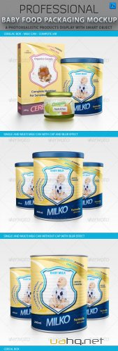 Baby Food Packaging Design Mockup