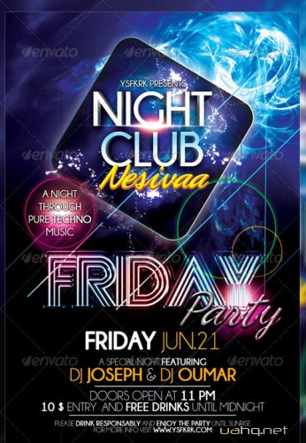 Friday Party Flyer Template