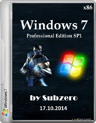 Windows 7 Professional Edition SP1 by Subzero 17.10.2014 (x86/2014/RUS)