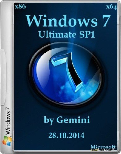 Windows 7 Ultimate with SP1 2in1 by Gemini 28.10.2014 (x86/x64/2014/RUS)