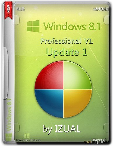 Windows 8.1 Professional Vl With Update IZUAL v30.10.14 (x64/2014/RUS)