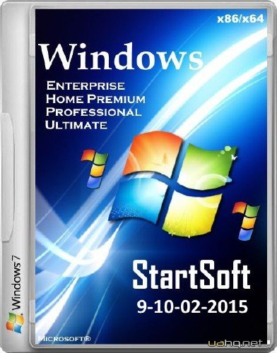 Windows 7 SP1 USB StartSoft 9-10-02-2015 (x86/x64/2015/RUS)