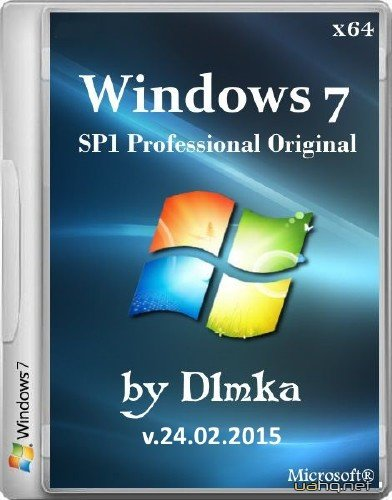 Windows 7 Professional SP1 by D1mka v.24.02.2015 (x64/2015/RUS)