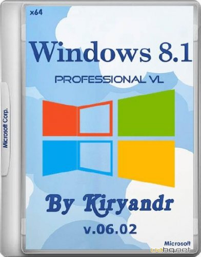 Windows 8.1 Professional VL with Update 3 by kiryandr 06.02 (x64/RUS/2015)