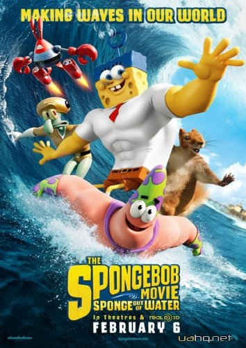 Губка Боб в 3D / The SpongeBob Movie: Sponge Out of Water (2015/TS/1400Mb/745Mb)